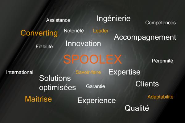 Le forces des Spoolex pour la fabrication de machines de converting