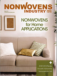 Spoolex Group ad in Nonwovens Industry May issue